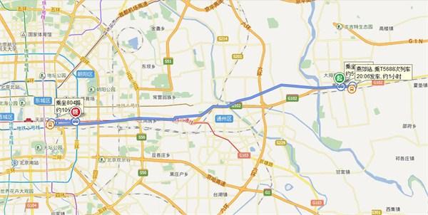 买不起房的京漂族,为了家的梦想,在距离北京东三环35公里的河北燕郊安家。(百度地图截图)