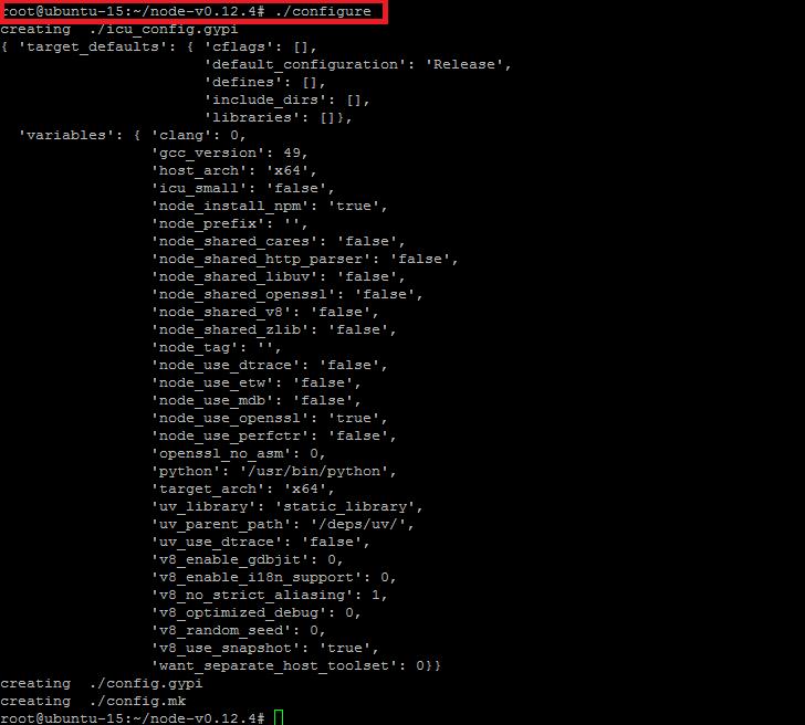NodeJS Configure
