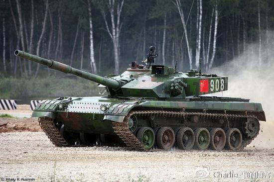 中国96B新型坦克。