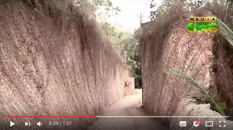沙西凿出200公尺长的泥土路。(视频撷图)