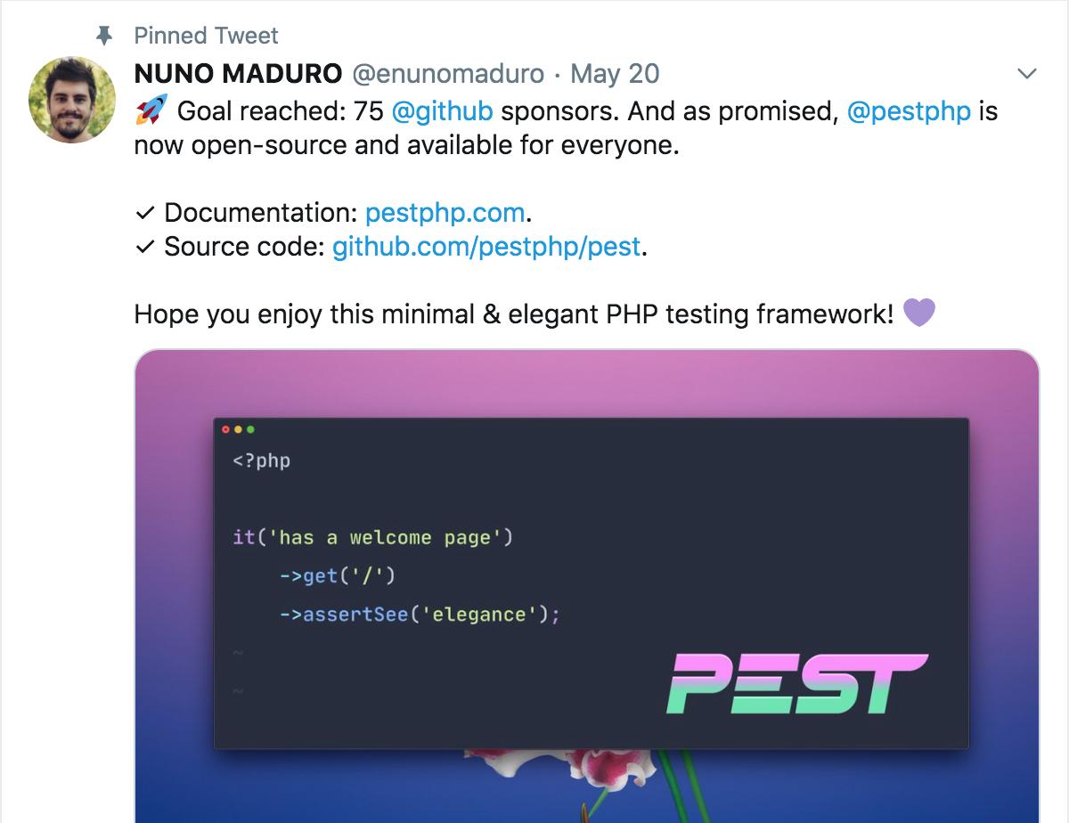 Nuno关于害虫的推文