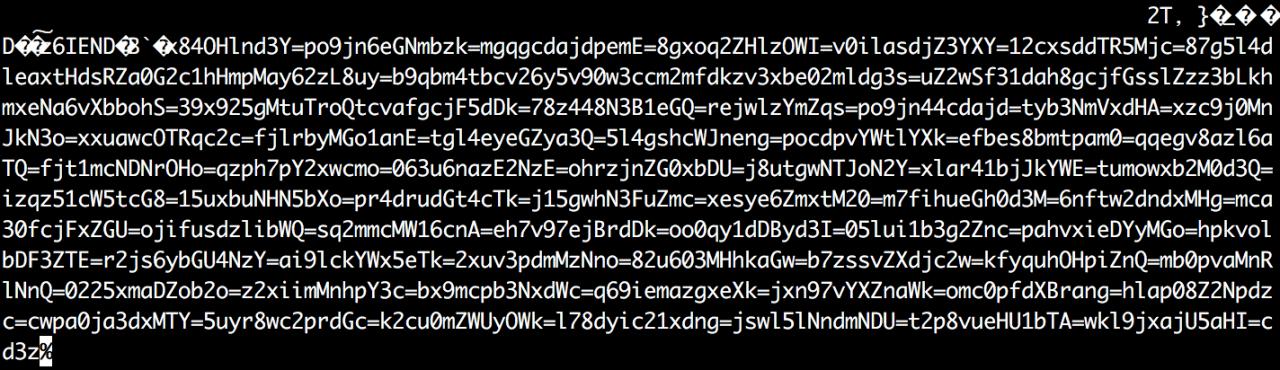 带有加密文本的原始内容
